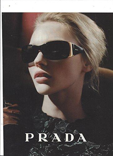 **PRINT AD** With Sasha Pivovarova For Prada - Sunglasses Prada Ad