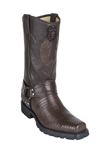 Lizard Brown Boots Industrial Genuine Teju Los Sole Biker Design Men's Altos Western W Leather O0zzqwg1C