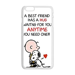 Cute Snoopy Lovely Dog Cartoon White iPhone plus 6 case