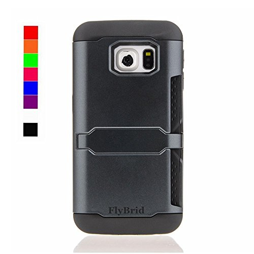 Galaxy S6 Case,The New ID/Credit Card case,Flybrid[Shockproof][drop Resistant][withstand]Dual Layer Impact TPU+PC Hybrid Hard Case with Credit Card/ID Slot for the Samsung Galaxy S6 (Halloween Stores New York)