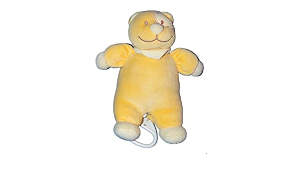 Doudou peluche Musical gato amarillo naranja - Tex Baby ...