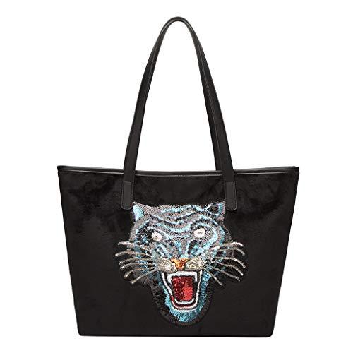 LUXISDE Fashion Lady Sequins Large Capacity Wild Shoulder Bag Handbag ()