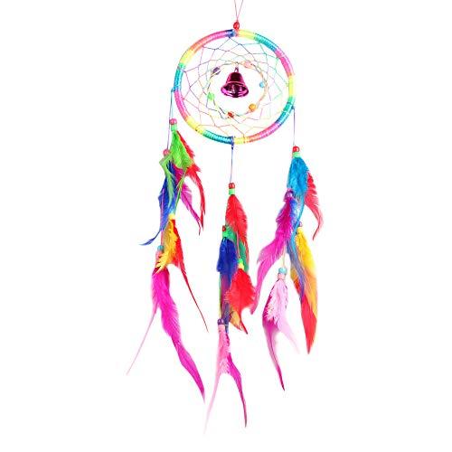 ❤️Jonerytime❤️Dream Catcher Circular Feathers Wall Hanging Decoration Decor Craft ()