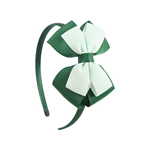 (Hairbands Solid Bows Headband Handmade Boutique Hairhoop Hair Accessories For Women Girls,Forest Green)