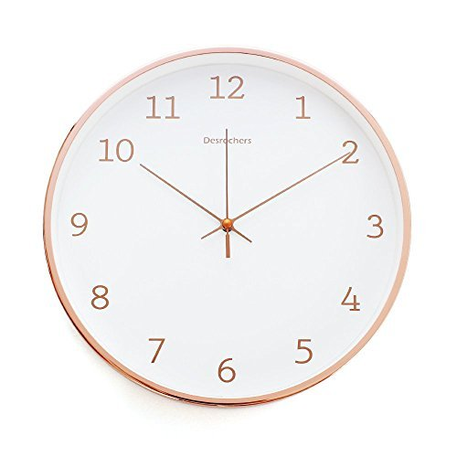 Arospa Luxury Modern 12' Silent Non-Ticking Wall Clock with...