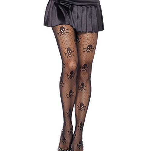 Slocyclub Skulls Sheer Pantyhose Stockings Tights for Women