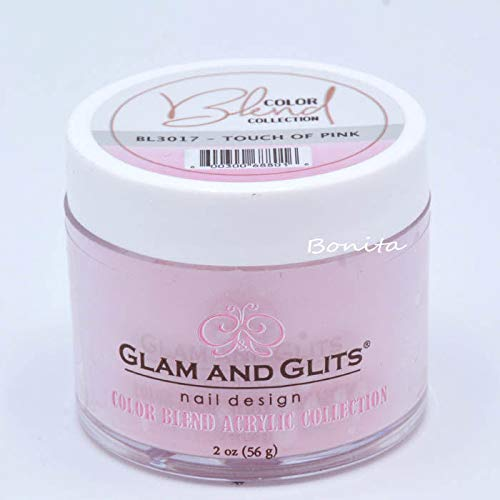 Glam And Glits Acrylic Powder Color Blend Collection BL3017 Touch Of Pink 2 oz