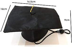 Sombrero de graduación negro traje de la mascota, casquillo ...
