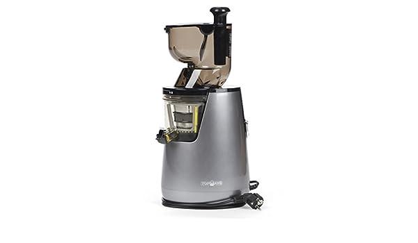TOPWAVE ES40 BIG Extractor de zumos en frìo profesional, 40 RMP, 250W, boca de ancha 8xcm, gris perla: Amazon.es: Hogar