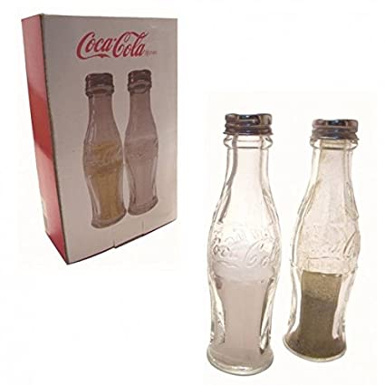 Coca-Cola botellas salero y pimentero de vidrio - Cola botellas de sal y pimienta