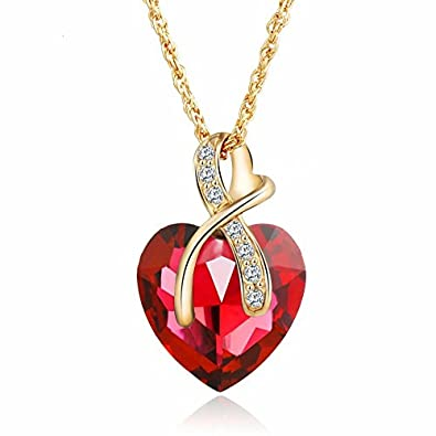 Bling n beads 18 k gold plated heart love crystal pendant for her bling n beads 18 k gold plated heart love crystal pendant for her mozeypictures Gallery