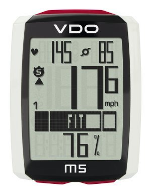 VDO M5 large backlight display extra durable and long lasting Full text Display Lithium Battery Automatic Start-Stop Data Storage Heart Rate and Cadence Digital Wireless Cycling Computer