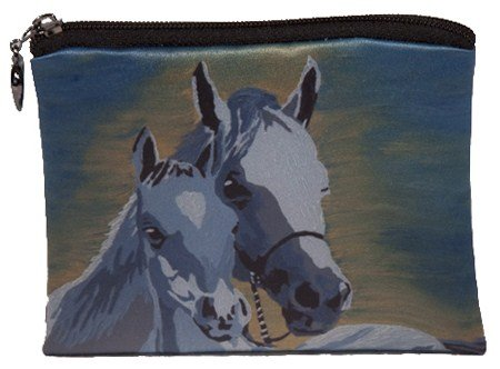 Salvador Kitti Vegan Change Purse, Coin Purse - Animals - from My Original Paintings - Support Wildlife Conservation, Read How (Horse - A Mother's ()