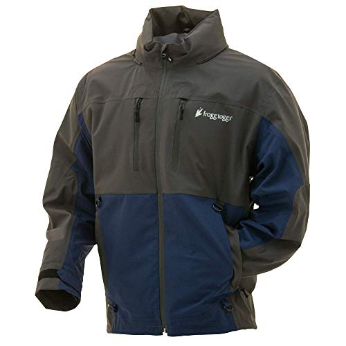 Frogg Toggs Pilot II Guide Rain Jacket, Dust Blue/Slate, Size Medium