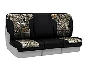Coverking Front 40/20/40 Custom Fit Seat Cover for Select Dodge Ram Models - Neosupreme (Mossy Oak Treestand Camo with Black Sides)
