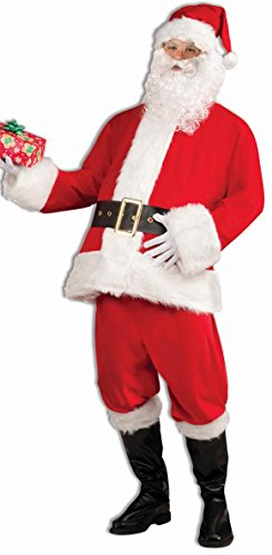 Forum Novelties Men's Santa Claus Costume, Red/White, One Size (Child Santa Wig And Beard)