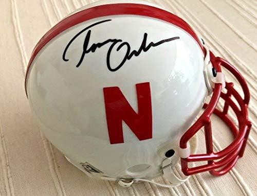 Tom Osborne Autographed Signed Memorabilia Nebraska Cornhuskers Mini Helmet - Beckett Authentic
