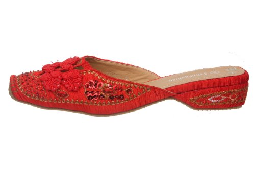 JohnFashion Rouge Pour Sandales Sandales Femme Pour Rouge Femme JohnFashion ZpnTI