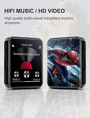 MP3 Player with Bluetooth32GB Clip MP3 Player with FM Radio Wired EarbudsMusic Player with Touch