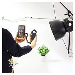Digital Illuminance - TOOGOO(R) Digital Illuminance/Light Meter LX1330B , 0 - 200,000 Lux Luxmeter Black+Orange