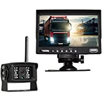 AUTO-VOX Digital Wireless Backup Camera System Kit with 7 HD Rearview Monitor, Sony CCD Super Night Vision Wireless camera IP 68 Waterproof Rear view camera for Truck/RV