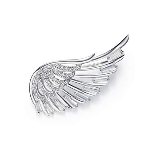 Pin Nice Brooch - Jarrel Brooch Pin for Woman, Angel Wings Design Crystal Brooch for Party Wedding