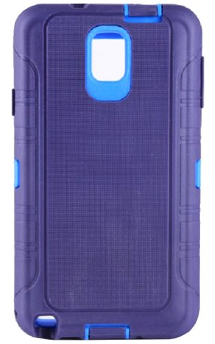 Huaxia Datacom Heavy Duty Rugged High Impact Hybrid Armor Defender Case Combo W/ Belt Clip Holster for Samsung Galaxy Note 3 / Note III N9000 - Purple TPU on Blue Core