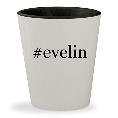 #evelin - Hashtag White Outer & Black Inner Ceramic 1.5oz Shot Glass