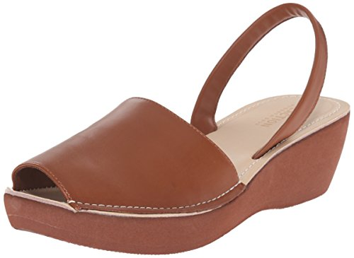 Kenneth Cole REACTION Women's FINE Glass Wedge Sandal, Luggage, 9 M US