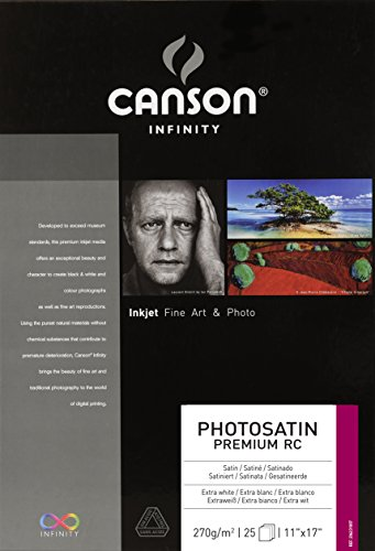 Canson Infinity PhotoSatin Fine Art Paper, 270 Gram, 11 x 17 Inch, 25 Sheets