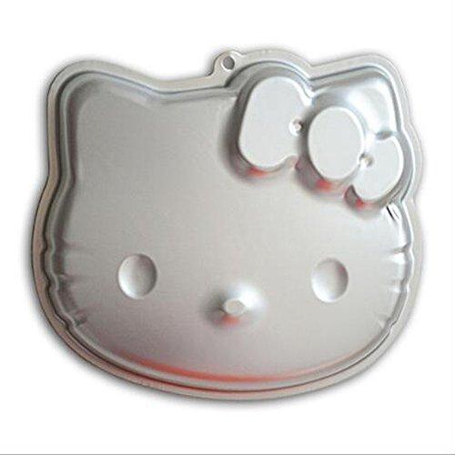 ZJWEI 10 Inch Plane Aluminum Alloy 3D Cake Mold Baking Mould Tin Cake Pan - HELLO KITTY