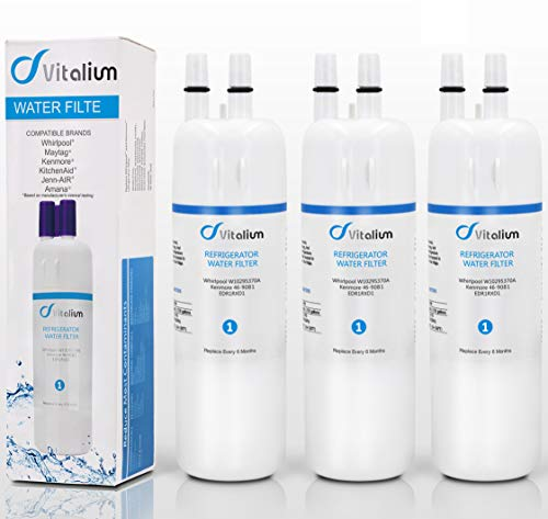 W10295370 W10295370A Refrigerator Water Filter by Vitalium Filter 1, EDR1RXD1, Kenmore 46-9930, Kenmore 46-9081 (3 pack) by Vitaliums