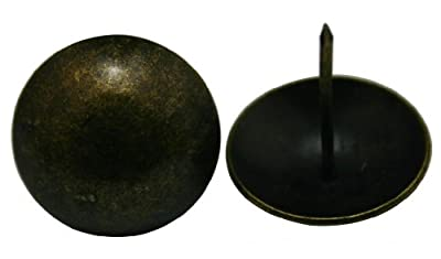 """Generic Round Large-headed Nail 1.6"""" Diameter Large Size Color Antique Brass Pack of 20"""