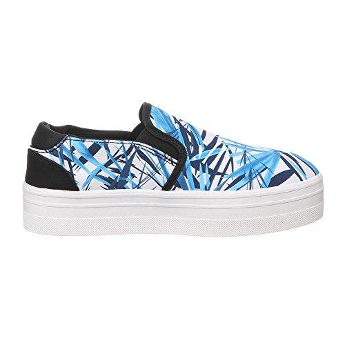 Ital-Design Damen Schuhe, 50225, Freizeitschuhe Blau