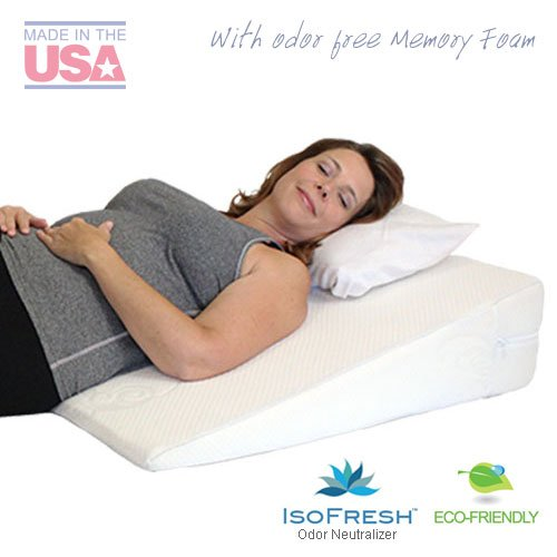 MedSlant Acid Reflux Wedge Pillow with Memory Foam Overlay