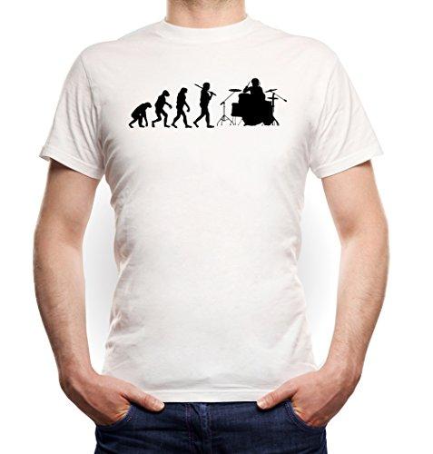 Evolution Drummer T-Shirt White Certified Freak