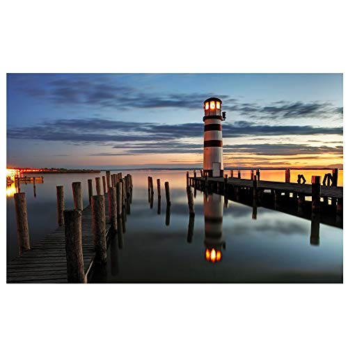 Northlight LED Lighted Coastal Sunset Lighthouse Scene Canvas Wall Art 15.75