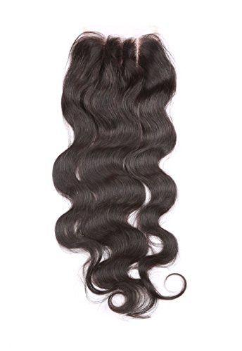 "Fennell 3 Part Closure Body Wave Virgin Brazilian Hair 130% Density Lace Closure Natural Hair Color Soft and Silky(8""-20"") (8 inches)"
