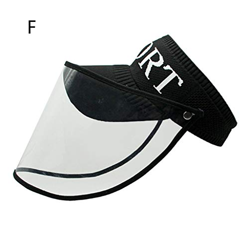 BBesty Flip-up Protective Safety Face Shield Detachable Full Cover Dustproof Waterproof Hat Cover Splashing Proof Anti Pollution Removable Clear Visor Outdoor Facial Cover