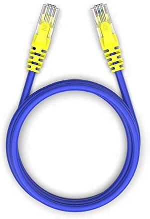 HXSD AMPCOM Ethernet Cable RJ45 Cat5e LAN Cable UTP CAT 5e RJ 45 Network Cable Patch Cord 100Mbps 100Mhz 24AWG for Desktop Computer Color : Purple, Size : 1.5m