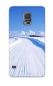 Hot Snap-on Hokkaido Winter Road Hard Cover Case/ Protective Case For Galaxy S5