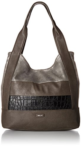 - Relic by Fossil Relic Women's Reagan Tote Bag, Black Patchwork