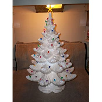 Amazon.com: Ceramic Christmas Tree 25 Inches Tall and Lights Up ...