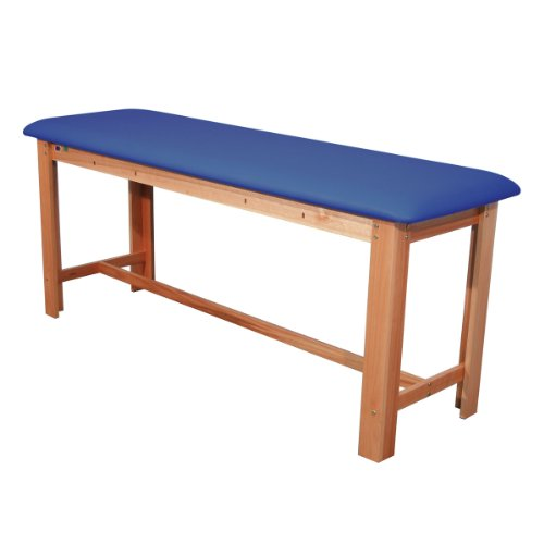 3B Scientific W15074DB Dark Blue Hardwood Classic Exam Treatment Table with H-Brace, 74.8'' Length x 24.4'' Width x 33.1'' Height by 3B Scientific