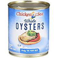 Chicken of the Sea, Oysters, Whole, 8oz Can (Pack of 6)