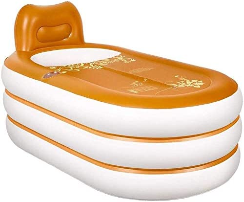 大人インフレータブルバスタブ折りたたみ風呂バレル肥厚断熱スパバスタブエアシャワー盆地シート浴場ビッグサイズ (Color : A)