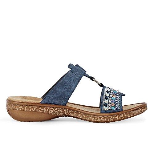 Rieker Womens-pantolette Blu 900545-5 Baltik