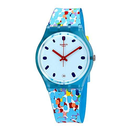 Swatch Prikket Blue Dial Ladies Watch GS401
