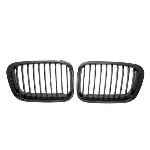 Astra Depot 1 Pair Black M-Color Front Hood Kidney Grille for 1998-2001 E46 320i 323i 325i 328i 330i Sedan