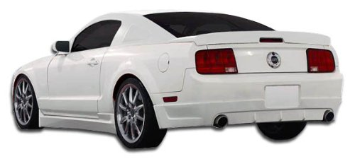 Duraflex ED-PTZ-720 Racer 2 Side Skirts Rocker Panels - 2 Piece Body Kit - Compatible For Ford Mustang 2005-2014 ()